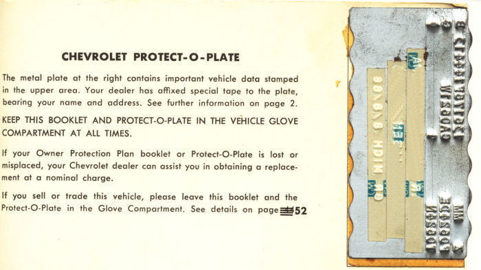 1966 Chevelle Protect-O-Plate Introduction