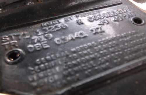 1971 Chevelle Trim Tags Kansas City Missouri